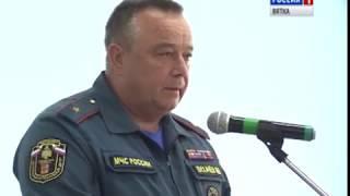 В учебно-спасательном центре прошел смотр сил и средств гражданской обороны(ГТРК Вятка)