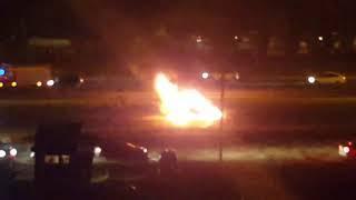 В Волгограде «Киа Спортаж» сгорела на дороге в час пик