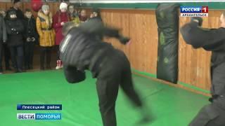 В Плесецком районе сотрудники спецназа провели показательные выступления для школьников