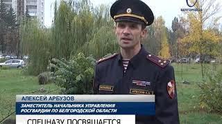 В Центральном парке Белгорода высадили Аллею Героев