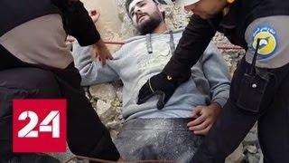 Российские военные прибыли в сирийский Алеппо, отравленный хлором - Россия 24