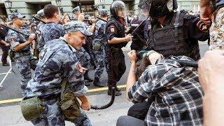 Более 1000 задержанных на протестах в России | #Новости