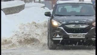 Уборка снега в городе Кирове (ГТРК Вятка)