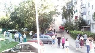 пенза. Горит машина ул. Суворова