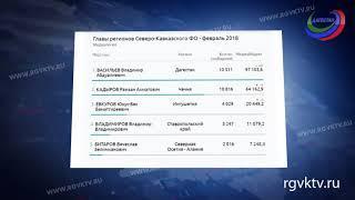 Владимир Васильев возглавил рейтинг популярности среди руководителей регионов СКФО