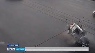 На видео попал момент смертельного ДТП с мотоциклом в Кемерове