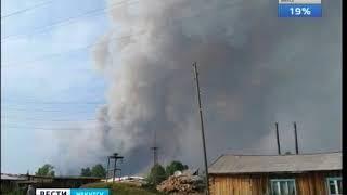 100 гектаров леса горит под Братском