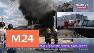 Потушен пожар в салоне техники в Котельниках - Москва 24