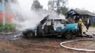 Разбил машину и покинул место ДТП: ВАЗ сгорел в Бабаево