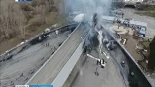 Пострадавший от пожара Дворец спорта имени Ивана Ярыгина начали восстанавливать