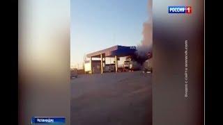 В Батайске на заправке горел грузовик