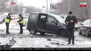 В Киеве в результате ДТП погиб полицейский 15.02.18