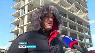 Во двор жилого дома Ижевска упала железная балка