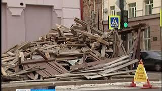 Историческое здание на проспекте Мира освободили от строительных лесов