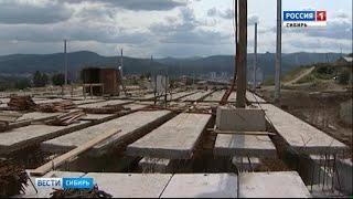 Большой баллон с опасным газом нашли строители дороги в Красноярске