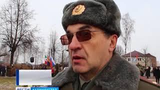 В годовщину вывода войск из Афганистана по улице Советска прошли БТРы