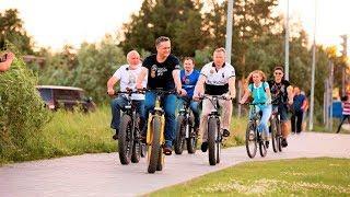 В Сургуте велосипедное движение оценили чиновники на колёсах