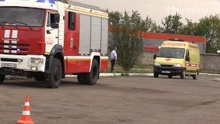 Межведомственные учения пожарных, полицейских и врачей