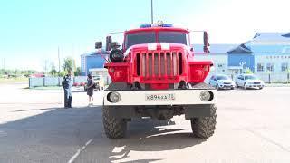 Первомайская пожарная часть получила новый автомобиль