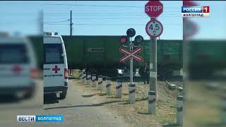 В Волгограде автомобиль столкнулся с поездом