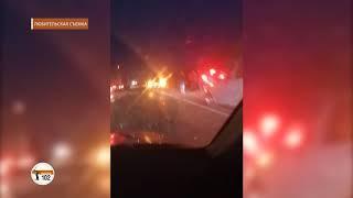 Под Волгоградом пьяный водитель ВАЗа устроил смертельно опасный «боулинг» на федеральной трассе