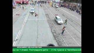 Челябинские МЧС-овцы устроили на площади Революции спасательный кроссфит