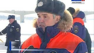 Костромские спасатели провели весенние учения в акватории Волги