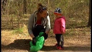 Субботник в стиле плоггинг. Молодые мамы собрали мусор на лыжной базе