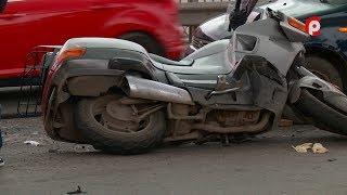 ДТП с мотоциклистом на мосту 800 летия в Вологде