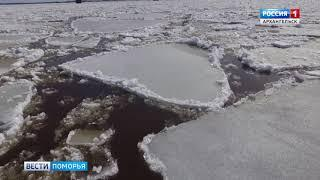 На реке Сухоне накануне произошло разрушение мощного ледяного затора