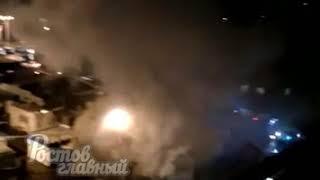 Пожар на рынке Уют 3.4.2018 Ростов-на-Дону Главный