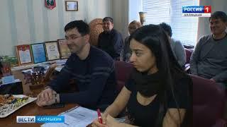 Марина Мукабенова и представители «Лукойл» посетили республиканский дом народного творчества