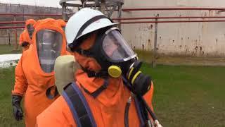 Крымские спасатели потушили пожар на нефтебазе