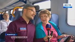 Новейший электропоезд вышел на один из самых востребованных пригородных маршрутов в Приморье