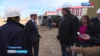 В Нарьян-Маре в микрорайоне Авиаторов выбилось из графика строительство новой школы