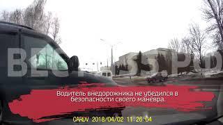 ВИДЕО: Водитель УАЗа спровоцировал ДТП