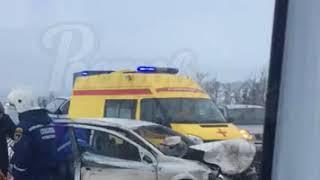 Тройное ДТП возле Платова 16.2.2018 Ростов-на-Дону Главный