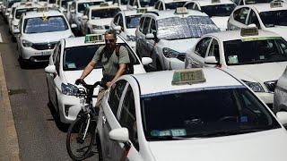 Бессрочная забастовка таксистов