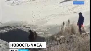 Автомобиль ушёл под лёд в районе Верхней Набережной в Иркутске