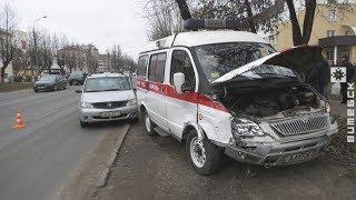 ДТП со скорой в Витебске (12.11.2018)