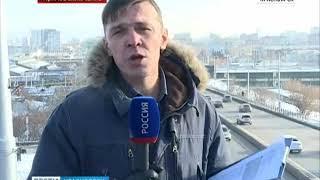 Прямое включение: в Красноярск пришли 20-градусные мороз