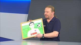 Юная жительница Николаевска нарисовала портрет футболиста Роберта Левандовски