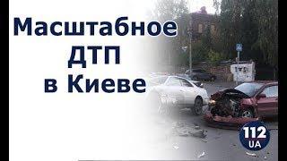 Масштабное ДТП в Киеве: столкнулись 5 автомобилей
