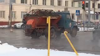 Прорыв водопровода в Барнауле