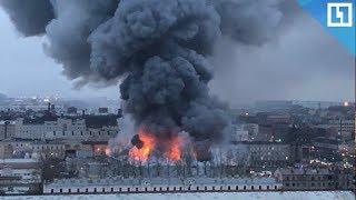 Крупный пожар в Петербурге