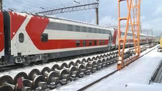 30 11 2018 Двухэтажный поезд «Ижевск — Москва» готов к первому рейсу