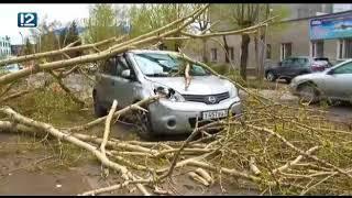 Последствия шторма в Омске
