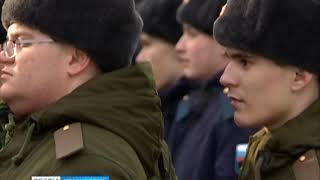 В Красноярске установили памятник призывнику