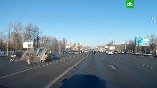 ДТП на Кутузовском проспекте в Москве 18.03.2018 реальная съемка момента
