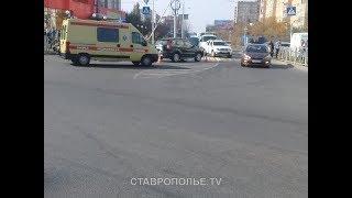Внедорожник и легковушка столкнулись в спальном районе Ставрополя